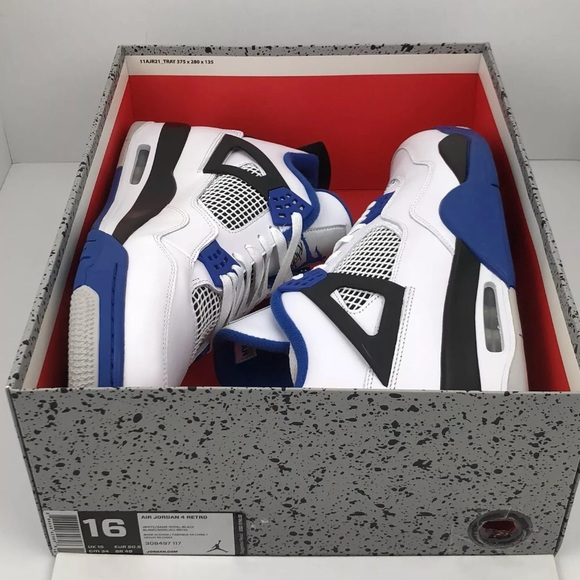 new concept ed8a7 80043 Nike Air Jordan Retro 4 Motorsport Mens Size 16